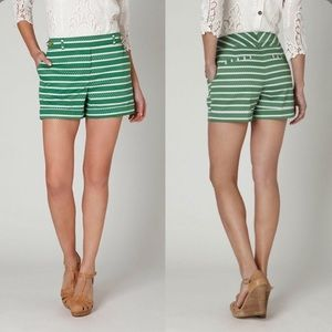 Meadow Rue Anthropologie Madison Green Shorts